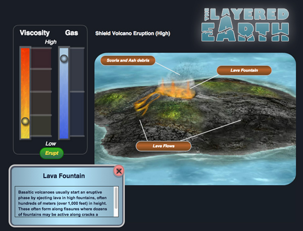Screenshot : Simmulation Curriculum - The Layered Earth